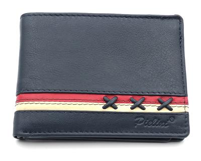 billetera de piel para hombre modelo 3160 azul