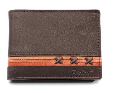 billetera de piel para hombre modelo 3160 marrón
