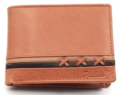 billetera de piel para hombre modelo 3160 cuero