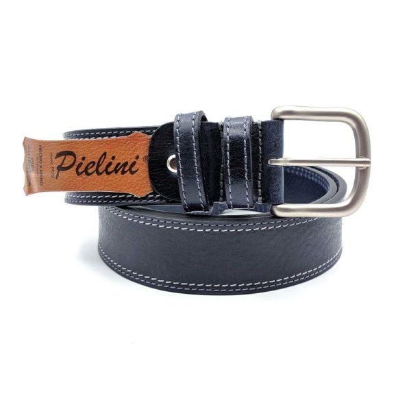 Cinturón de piel de vaquetilla modelo 412-40 azul