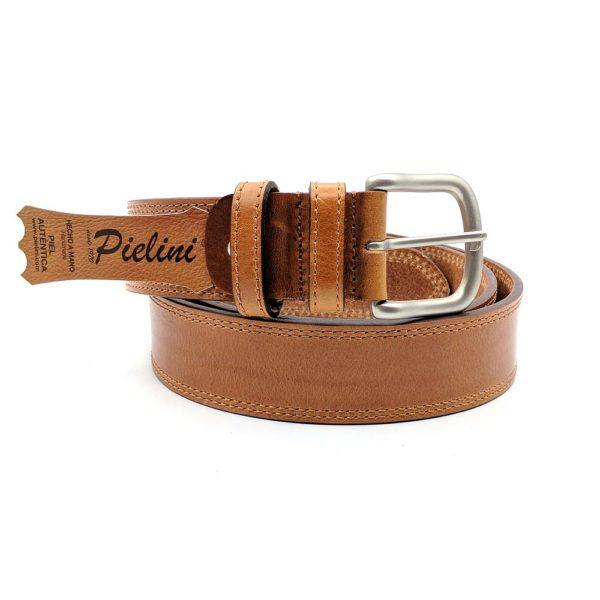 Cinturón de piel de vaquetilla modelo 412-40 coñac