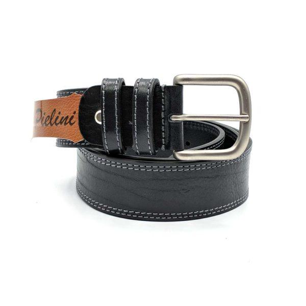 Cinturón de piel de vaquetilla modelo 412-40 negro