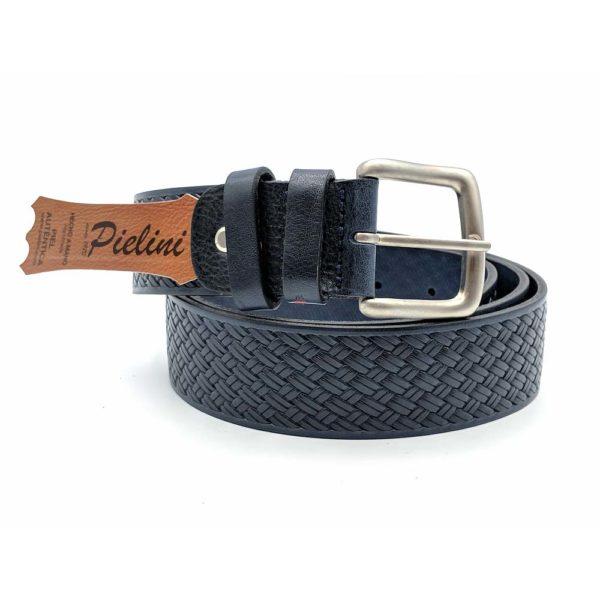Cinturón de piel de Vaquetilla 416-40 azul